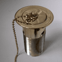 Gold Effect Vanity Basin Waste and Overflow - 74000570